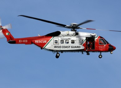 File image: The Shannon-based Irish Coast Guard, Rescue 115, was also tasked and reached the scene soon after the other emergency services.
