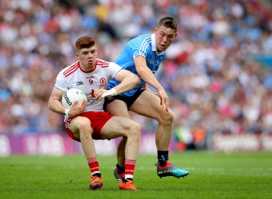 Cathal McShane (L) was named in the Sunday Game's Team of the Year, while Con O'Callaghan was named their Footballer of the Year.