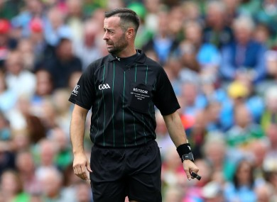 Referee David Gough during the All-Ireland final.