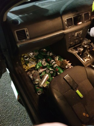 An image inside one of the arrested people's cars.