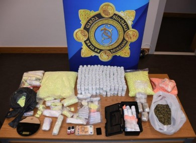Drugs seized by gardaí in Wexford.