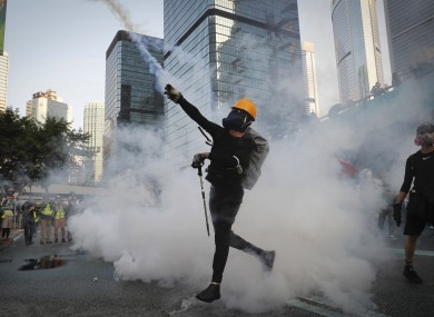 Protests escalated in Hong Kong today.