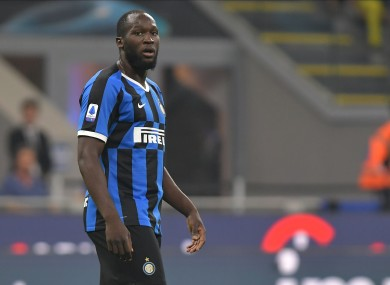 Inter star Romelu Lukaku (file pic).