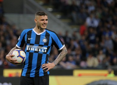 Mauro Icardi in action for Inter Milan earlier this year.