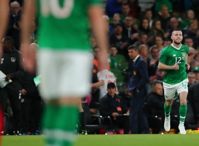 Byrne: Promised his Ireland jersey to his mother.