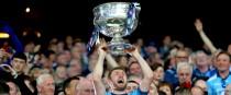 Dublin's Jack McCaffrey lifts the Sam Maguire