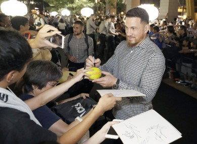 Williams arriving with the All Blacks in Japan this week.