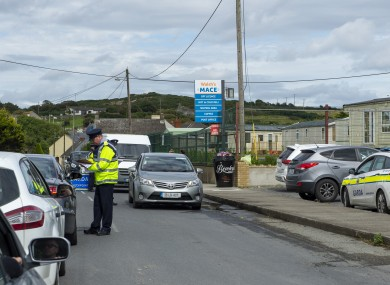 Garda checkpoint set up in Clogherhead one week after the murder of Keith Branigan.