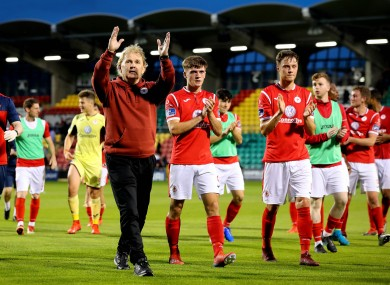 Liam Buckley celebrating with his Sligo team (file pic).