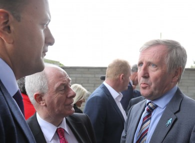 Michael Creed (right) has convened the talks for today.