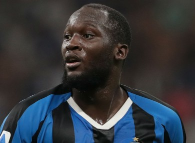 Romelu Lukaku pictured competing for Inter.