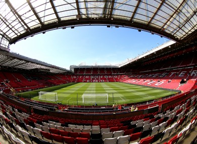 Old Trafford (file pic).
