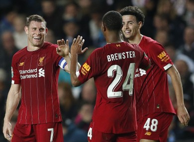 Liverpool beat MK Dons 2-0 during the week.