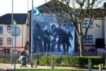 A mural depicting the events of Bloody Sunday