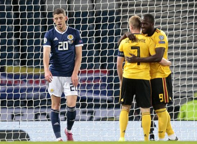 Lukaku opened the scoring for Belgium at Hampden Park.