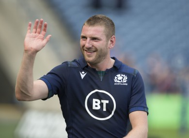 Racing out-half Finn Russell starts for Scotland.