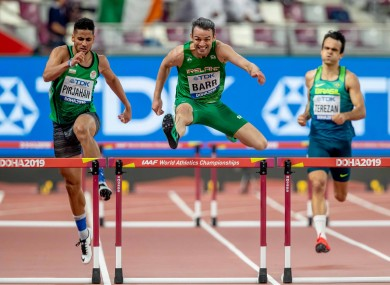 Ireland's Thomas Barr on the way to finishing second to qualify.