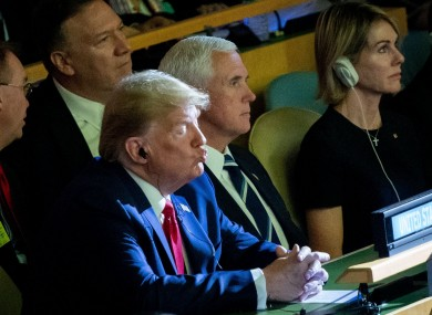 Trump spent about 15 minutes at the summit and didn't speak.