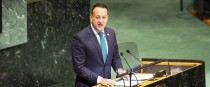 Leo Varadkar speaking at the UN last year.