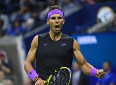 Nadal defeated Matteo Berrettini 7-6, 6-4, 6-1.