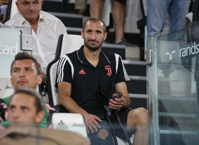 Chiellini sustained the injury in training last week.