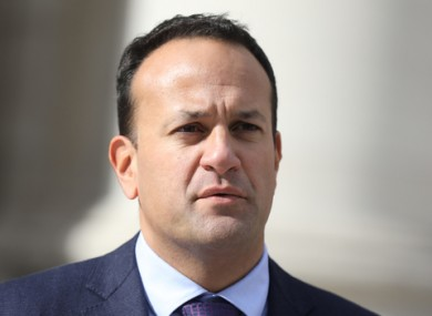 Leo Varadkar speaking to the media today.