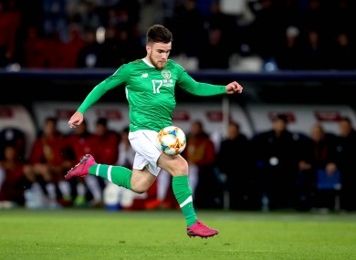 Aaron Connolly during his substitute appearance for Ireland in Georgia last Saturday.