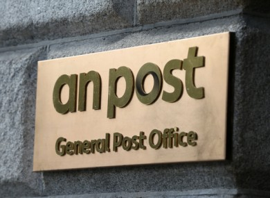 An Post sign outside the General Post Office in Dublin.