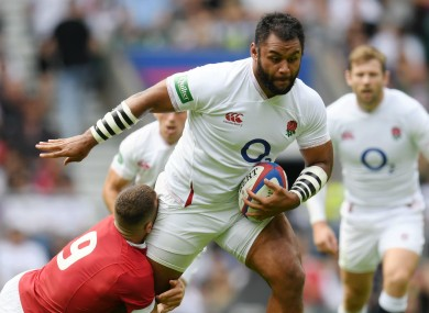 England's Billy Vunipola in action against Wales
