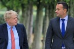 Boris Johnson and Leo Varadkar pictured in Cheshire last week.