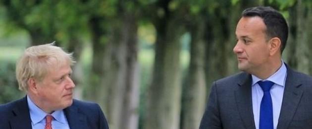 Boris Johnson and Leo Varadkar pictured in Cheshire last week.