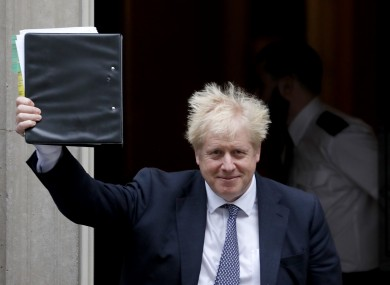 Boris Johnson: demanded opposition MPs stopped holding UK 'hostage' over election refusal