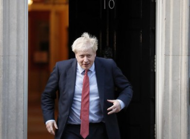 Johnson leaving Downing Street yesterday.