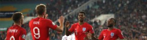England smash six past Bulgaria but racist chants sees play stopped twice in Sofia