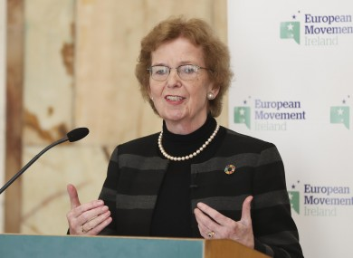 Robinson speaking at 2019 Michael Sweetman Memorial Lecture held at Iveagh House, St Stephen's Green