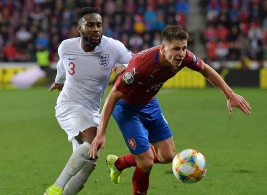 Danny Rose and England struggled against Czech Republic.