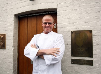 Heston Blumenthal outside the Fat Duck