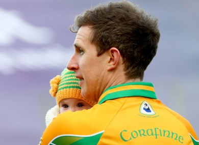 Gary Sice with his daughter Sadhbh after March's All-Ireland club final.