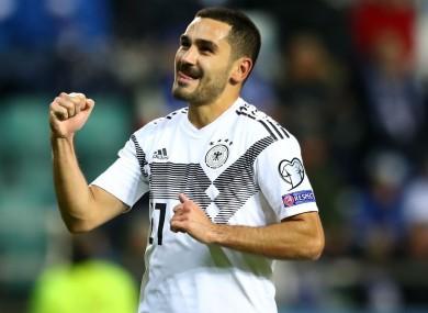 Germany's Ilkay Gundogan
