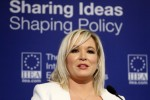 Michelle O'Neill speaking at the IIEA today.