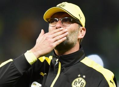 Jurgen Klopp during his time at Borussia Dortmund.
