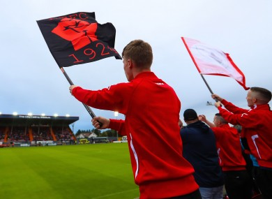 File photo of Longford Town fans.