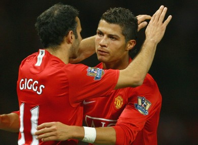 Ryan Giggs played with a young Cristiano Ronaldo at Man United.