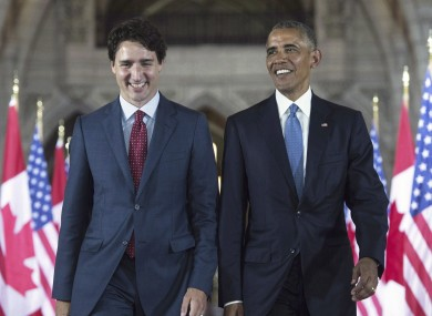 Justin Trudeau and Barack Obama in June 2016