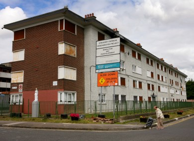The last remaining blocks of flats in O'Devaney Gardens, which were demolished in 2016