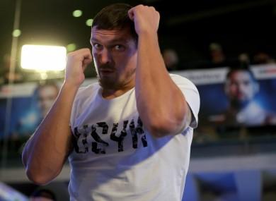 Ukrainian pound-for-pound star Oleksandr Usyk.