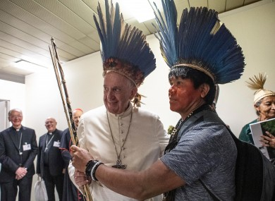 Pope Francis met with 40 indigenous people earlier this month.