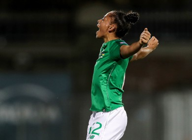 Jarrett: scored her first Ireland goal in midweek, and a double in Saturday's cup semi-final.