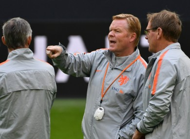 Ronald Koeman with his coaching staff (file pic).