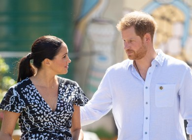Meghan and Harry during a visit to the Nyanga Township in Cape Town last week